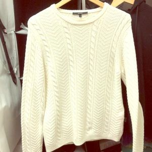Gucci wool viscose cable knit sweater - white